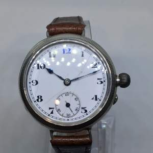 Borgel Cased Solid Silver Trench Watch