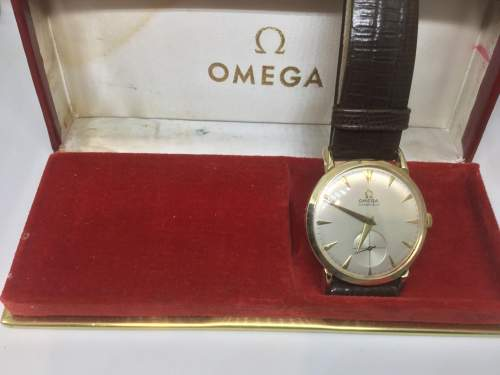 Vintage Omega Tiffany and Co 14ct Gold Watch image-5