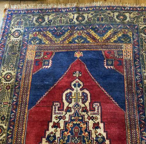 Superb Old Hand Knotted Turkish Rug Yalahili Approx 70 Years Old image-2
