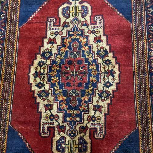 Superb Old Hand Knotted Turkish Rug Yalahili Approx 70 Years Old image-3