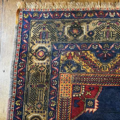 Superb Old Hand Knotted Turkish Rug Yalahili Approx 70 Years Old image-4