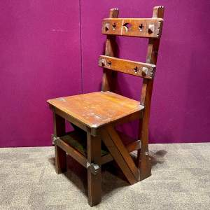 Arts and Crafts Metamorphic Library Steps Chair