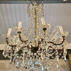 20th Century Large French Brass Eight Branch Chandelier