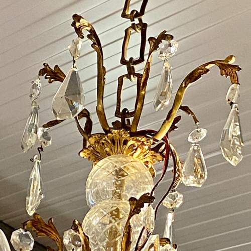 Large French Brass Eight Branch Chandelier image-3