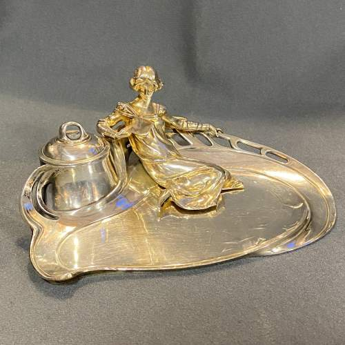 Rare WMF Figural Ink Stand image-1