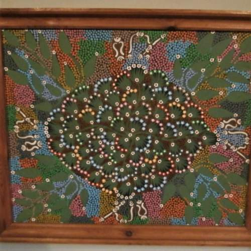 Aboriginal Art by Louise Numina Napanangka titled Medicine Leaves image-2