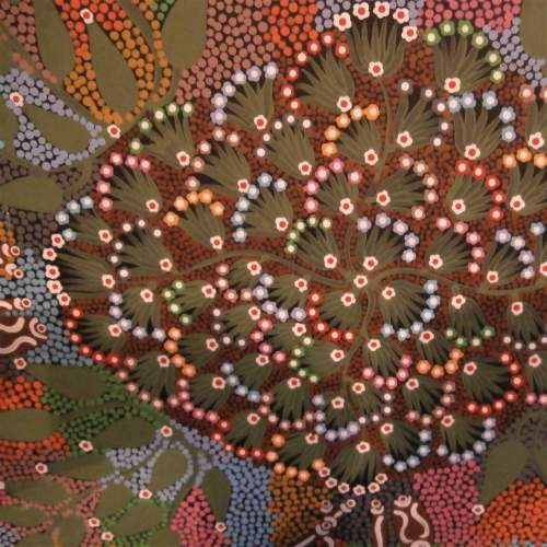 Aboriginal Art by Louise Numina Napanangka titled Medicine Leaves image-3