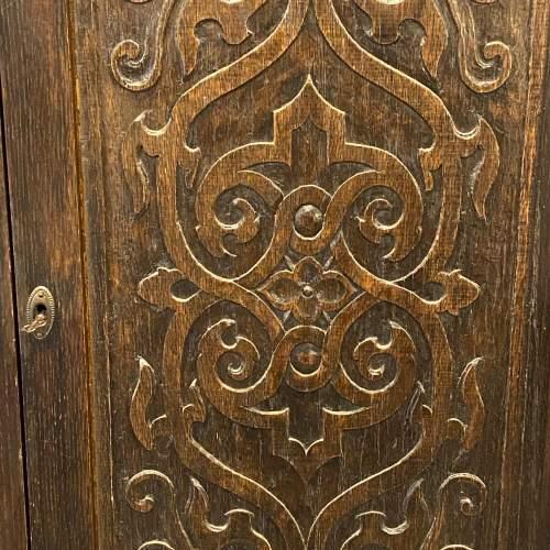 Early 20th Century Carved Oak Corner Cupboard image-4