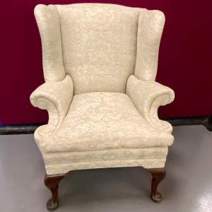 Late Victorian George II Style Wing Chair