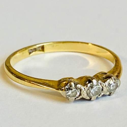 18ct Gold Diamond Three Stone Ring image-1