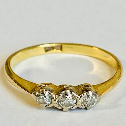18ct Gold Diamond Three Stone Ring image-2