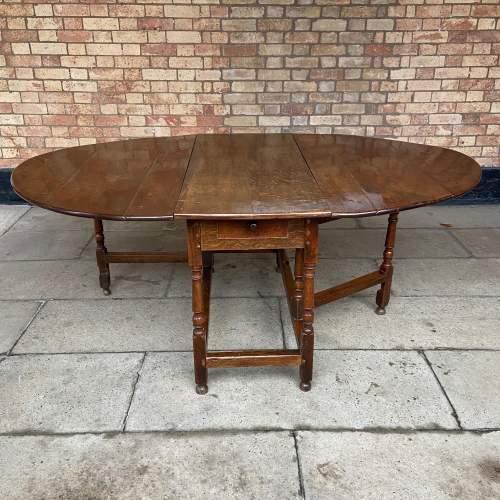 Oak 18th Century Gateleg Drop Leaf Dining Table image-1