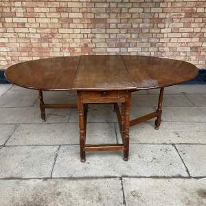 Oak 18th Century Gateleg Drop Leaf Dining Table