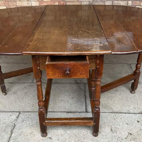 Oak 18th Century Gateleg Drop Leaf Dining Table image-3