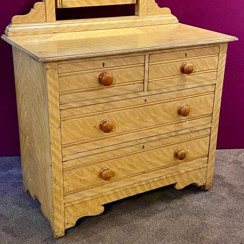 Victorian Scumbled Pine Dressing Table image-3