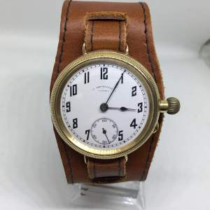 Borgel Vertex 18k Solid Gold Swiss made Trench Watch