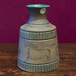 Krukmakaren Squat Stoneware Cylinder Vase