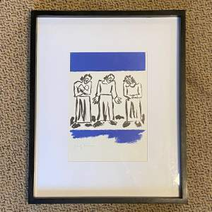 Josef Herman Limited Edition Lithograph Three Figures