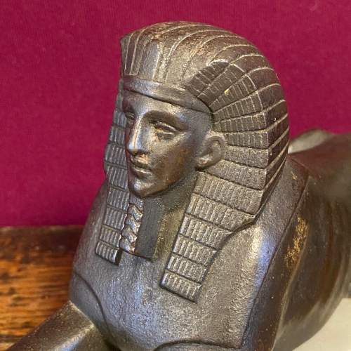 Late 19th Century French Bronze Sphinx Figure image-2