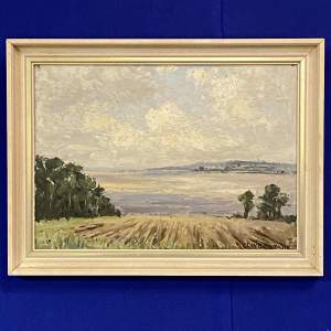 Clive Browne Oil on Board of South Ferriby