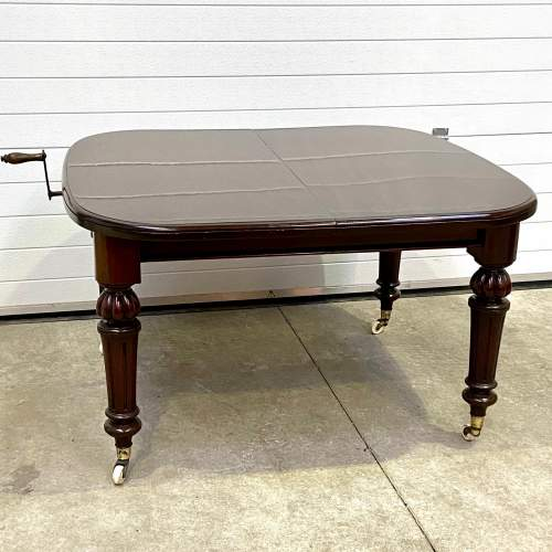 Victorian Mahogany Wind-Out Dining Table image-6