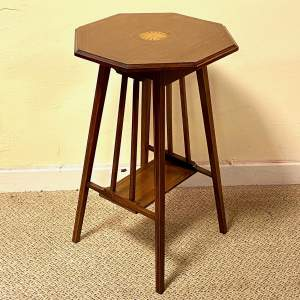 Edwardian Inlaid Mahogany Lamp Table