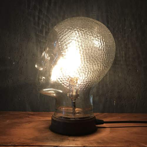 Vintage Glass Mannequin Head Repurposed into a Great Lamp image-2