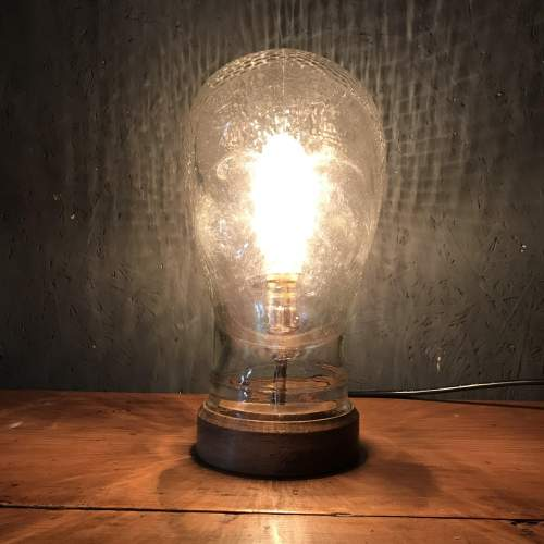 Vintage Glass Mannequin Head Repurposed into a Great Lamp image-3