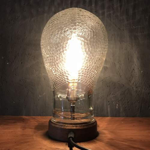 Vintage Glass Mannequin Head Repurposed into a Great Lamp image-4