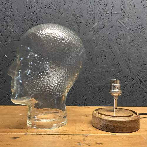 Vintage Glass Mannequin Head Repurposed into a Great Lamp image-5