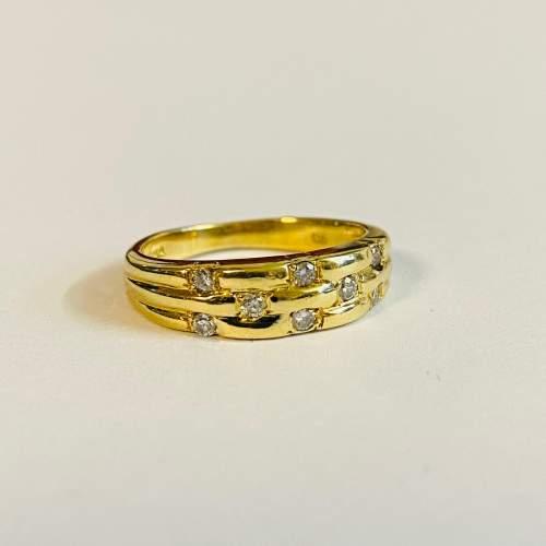 Vintage 18ct Gold Diamond Ring image-2