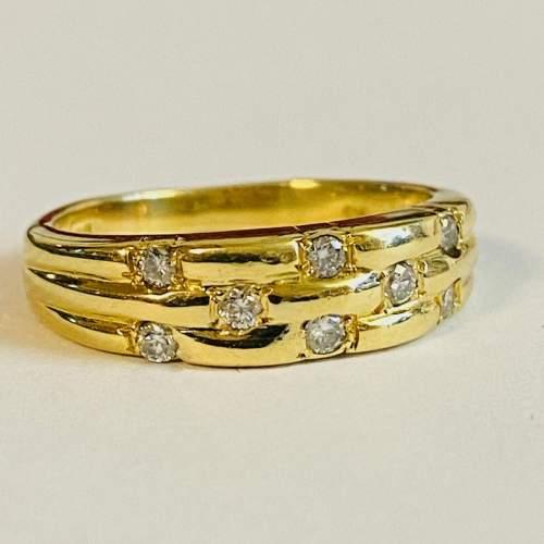 Vintage 18ct Gold Diamond Ring image-1