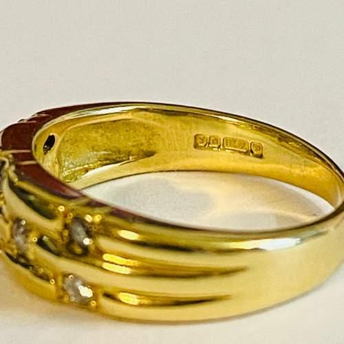 Vintage 18ct Gold Diamond Ring image-4
