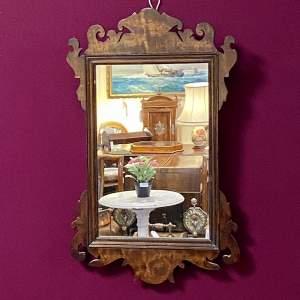 Ornate Rectangular Mahogany Framed Wall Mirror