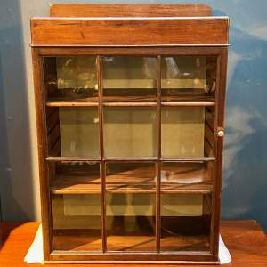 Victorian Six Glazed Panel Display Cabinet