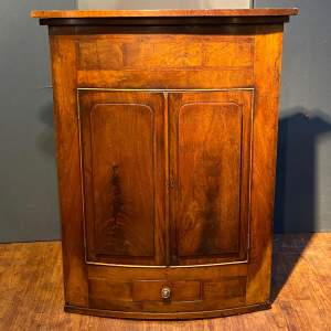 Early 19th Century Bow Fronted Corner Cabinet
