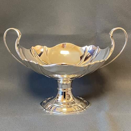 Art Nouveau Silver Twin Handled Pedestal Bowl image-1