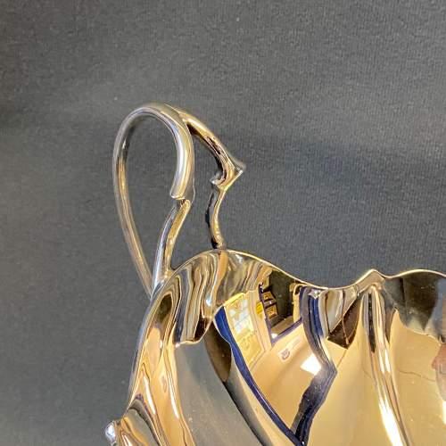Art Nouveau Silver Twin Handled Pedestal Bowl image-4