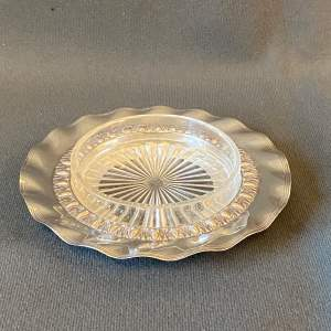 19th Century Silver and Glass Butter Dish
