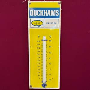 Original Duckhams Enamel Advertising Sign