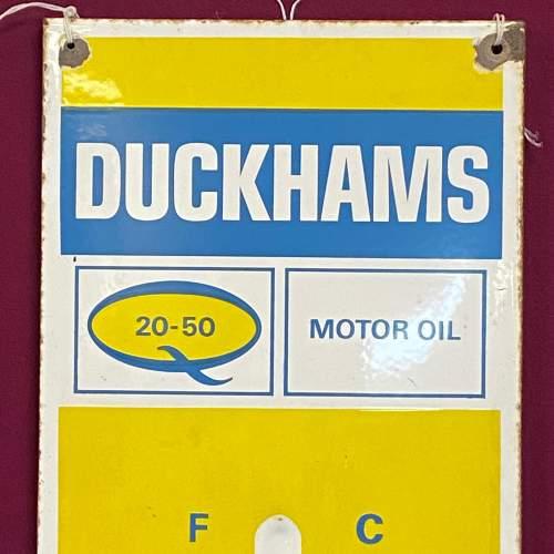 Original Duckhams Enamel Advertising Sign image-2