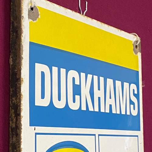 Original Duckhams Enamel Advertising Sign image-4
