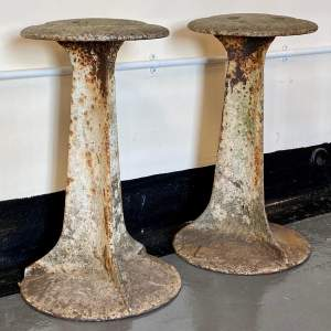 Pair of Cast Iron Ships Capstans