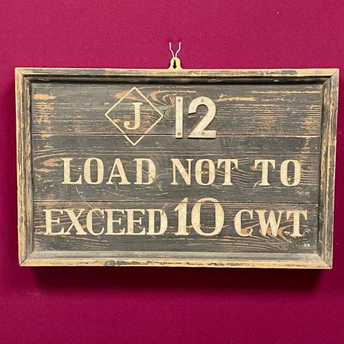 Original Railway Weight Sign image-1