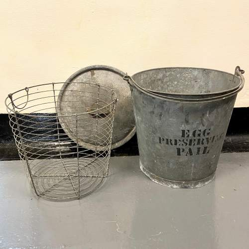 Large Galvanised Egg Pail image-2