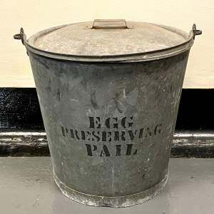Large Galvanised Egg Pail