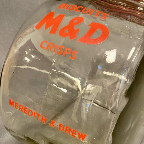 Meredith and Drewett Glass Crisps Shop Display Jar image-4