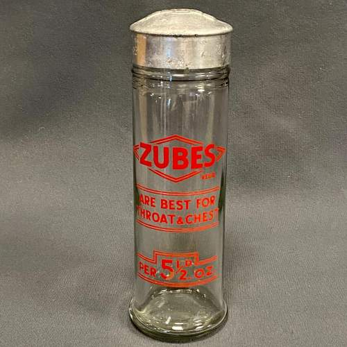 Original Zubes Throat and Chest Tablets Display Jar image-1