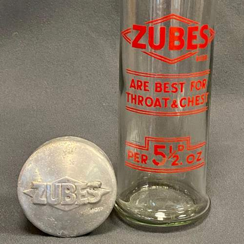 Original Zubes Throat and Chest Tablets Display Jar image-3
