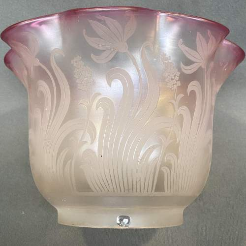 Pair of Signed St Louis Glass Oil Lamp Shades image-6